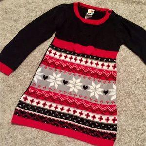 VGUC 3T Healthtex Snowflakes Sweater Dress